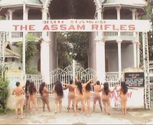 a protest against rape by the Indian army