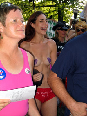 naked anti-republican protesters