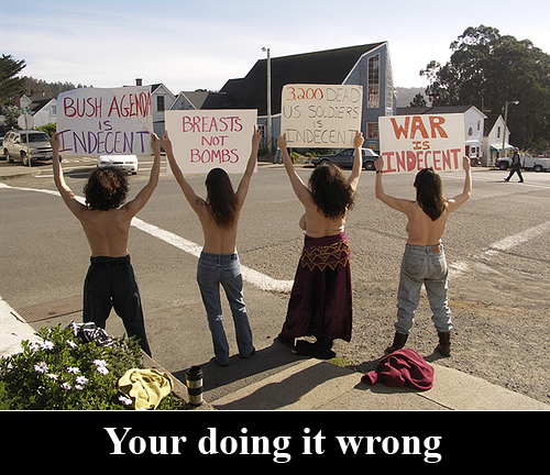 naked protesters going about it all backwards
