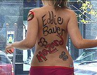 naked protesters at Eddie Baeur