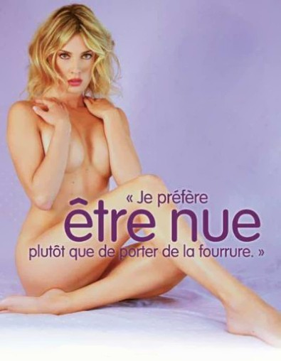 Eva Angeli nude, for PETA