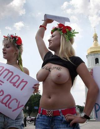 naked protesters