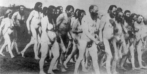 nude religious protesters in canada in the early 1900s
