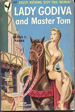lady godiva naked on pulp fiction cover