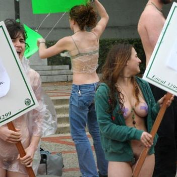 Berkeley nude protest