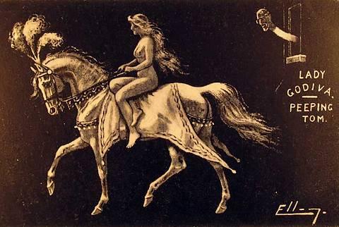 lady godiva nude on horse
