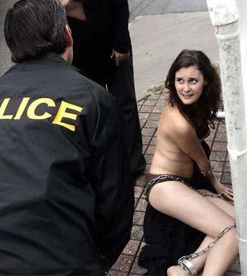 nude PETA woman in bondage