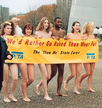pretty nude girls for PETA
