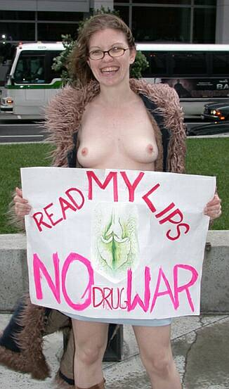 pretty smiling nude against the war on drugs