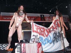 nude protest singers