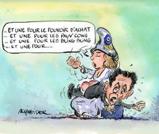 French president sarkozy getting a spanking